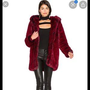 Brand new lpa faux fur coat size small